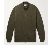 Orkney Ribbed Wool Zip-Up Cardigan