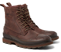 Madson Waterproof Leather Wingtip Brogue Boots