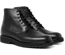 Montoro Pebble-grain Leather Boots