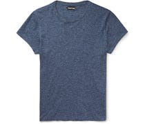 Slim-Fit Marled Cotton-Jersey T-Shirt
