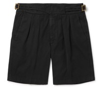 Manny Pleated Cotton Shorts