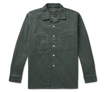 Camp-Collar Cotton-Corduroy Shirt