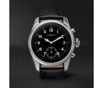 Summit 2 42mm Stainless Steel and Leather Smart Watch, Ref. No. 119440