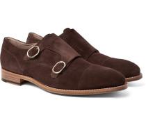Atkins Suede Monk-strap Shoes