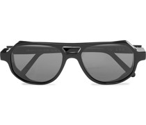 Asmara Explorer Aviator-Style Acetate Sunglasses