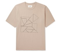 Embroidered Organic Cotton-Jersey T-Shirt