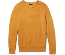 Simon Embroidered Loopback Cotton-jersey Sweatshirt