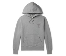 Logo-Embroidered Organic Loopback Cotton-Jersey Hoodie