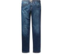 Tasche Slim-fit Washed Stretch-denim Jeans