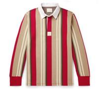 Striped Cotton-Blend Polo Shirt