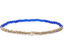 Glass, Hematite And Gold Bead Bracelet