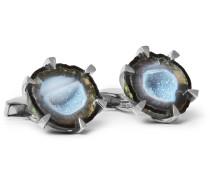 Sterling Silver Geode Cufflinks
