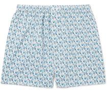 Metropolitan Printed Cotton-poplin Boxer Shorts