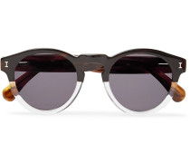 Leonard Round-frame Two-tone Acetate Sunglasses