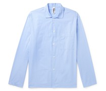 Camp-Collar Organic Cotton-Poplin Pyjama Shirt