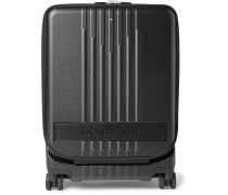 #MY4810 Cabin Leather-Trimmed Polycarbonate Suitcase