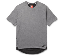 Shell-trimmed Jersey T-shirt