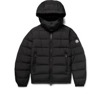 Brique Quilted Shell Hooded Down Jacket
