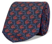 7cm Logo-Jacquard Silk-Twill Tie