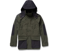Two-tone Cotton-canvas Hooded Jacket