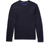 Striped Double-faced Wool-blend Sweater