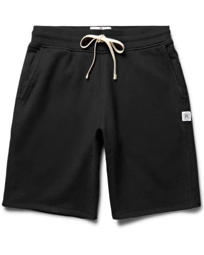 Loopback Cotton-jersey Drawstring Shorts - Black