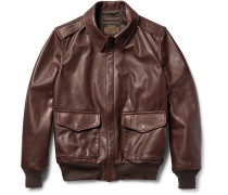 A-2 Full-grain Leather Bomber Jacket