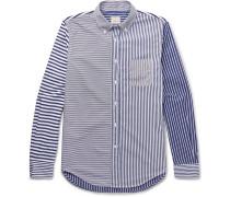 Slim-fit Button-down Collar Striped Cotton Shirt