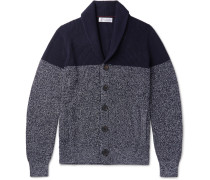 Two-tone Melange Cotton Cardigan