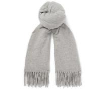 Canada Fringed Mélange Virgin Wool Scarf