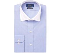 Blue Slim-fit Checked Cotton Shirt - Blue