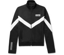 Striped Jersey Zip-up Track Jacket