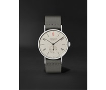 Tangente 38 Limited Edition Hand-Wound 37.5mm Stainless Steel and Canvas Watch, Ref. No. 165.S50