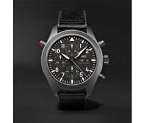 Pilot's TOP GUN Automatic Chronograph 44mm Ceratanium, Webbing and Rubber Watch, Ref. No. IW371815