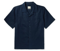 Camp-Collar Printed Woven Shirt