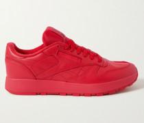 + Maison Margiela Project 0 Classic Tabi Split-Toe Leather Sneakers