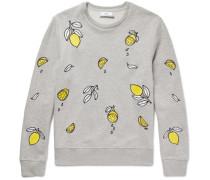 Lemon-embroidered Loopback Cotton-jersey Sweatshirt