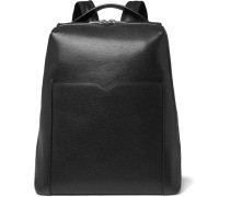 Pebble-grain Leather Backpack