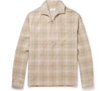 Checked Cotton And Wool-blend Shirt