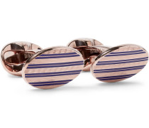 + Deakin & Francis Enamelled Rose Gold-plated Sterling Silver Cufflinks