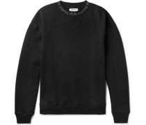 Oversized Printed Fleece-back Cotton-jersey Sweatshirt