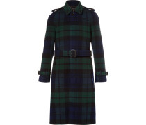 Black Watch Checked Wool And Cashmere-blend Coat