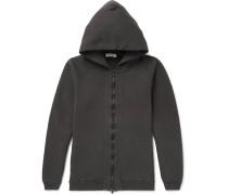 Coach Over-dyed Fleece-back Cotton-jersey Zip-up Hoodie