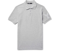 Slim-fit Printed Cotton-piqué Polo Shirt
