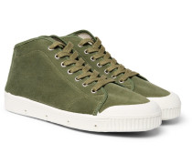 + Spring Court Canvas High-top Sneakers - Green