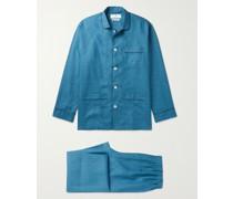 Modern Piped Linen Pyjama Set