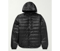 Lodge Packable Quilted Nylon-Ripstop Down Hooded Jacket