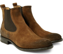 Bristol Distressed Suede Chelsea Boots
