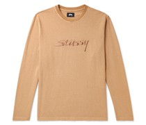 River Logo-Embroidered Cotton-Jersey T-Shirt