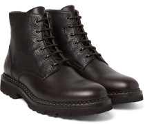 Panelled Leather Boots
